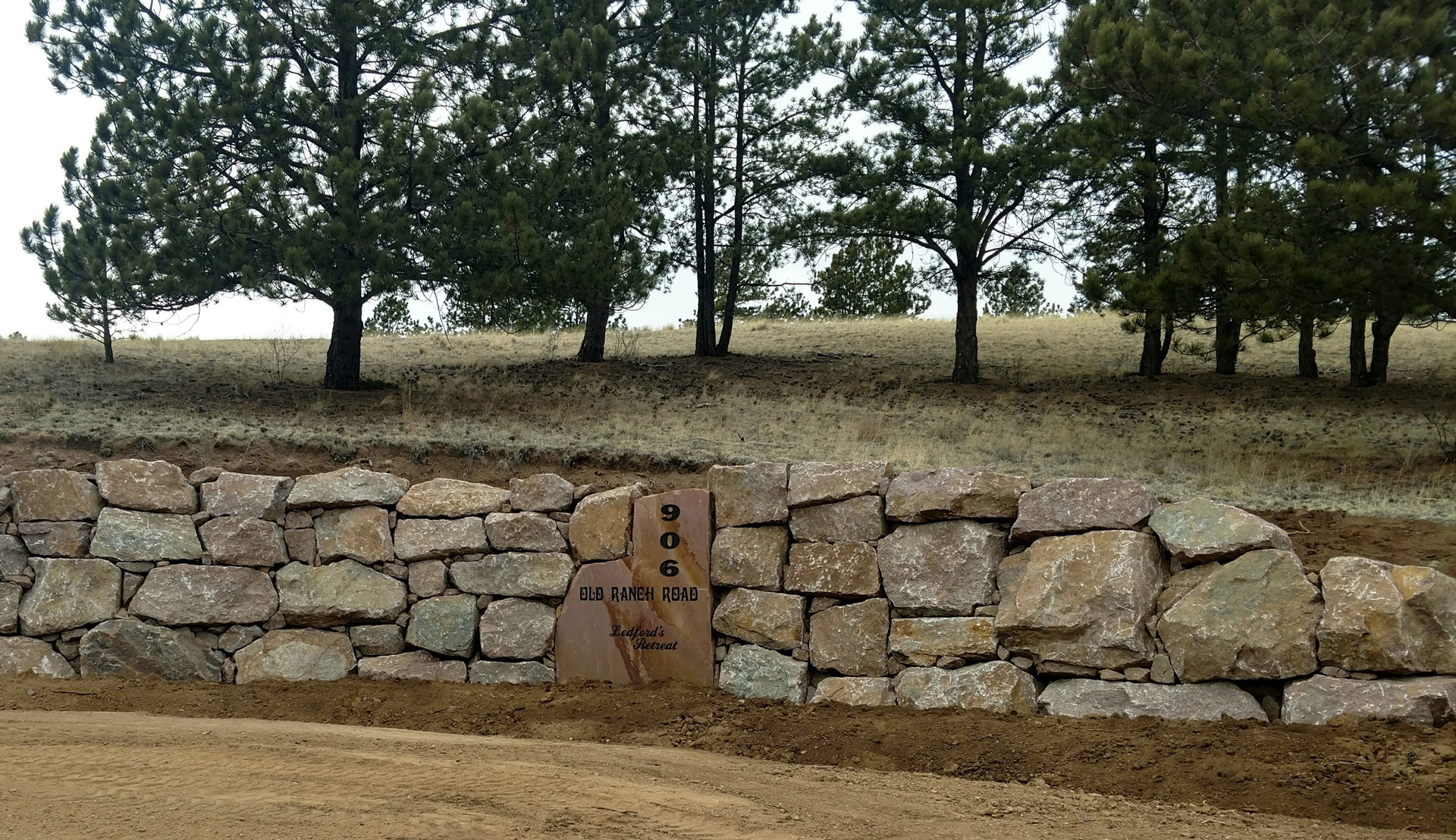 Boulder Entryway with Custom Stone in Florissant, CO